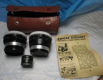 Kaligar Wide Angle Telephoto Auxiliary Lens Series VI # 351042 # 321623 vintage