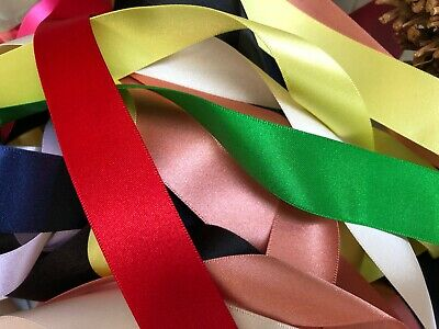 Berisfords Best Quality Double Satin Ribbon Choice of Colour & Width x 3 Metres