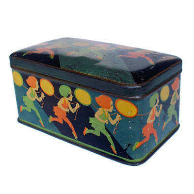 Rare Vintage 1930s Art Deco Toffee Tin Biscuit Candy Hudson Scott RS McColl Box