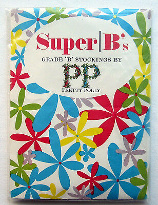 Vintage Pretty Polly Super B's TIGHTS - Tall Fitting 10½-11