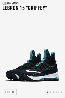 huge selection of 29404 bd74d NIKE LEBRON 15 XV New Heights Atomic Teal Black Red 897648 ...