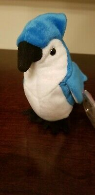 TY Beanie Baby Retired 1998 Rocket the Blue Jay with Errors