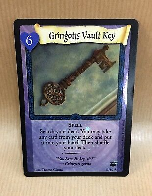 Harry Potter TCG Diagon Alley Gringotts Vault Key Foil Spell Card 11/80 Rare