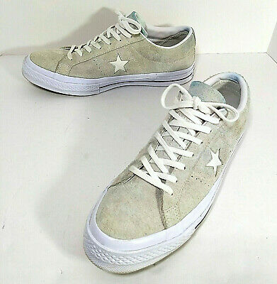 e6adf4b0715b Converse One Star Low Skate Shoes Mens Suede Sneakers Light Gray White Size  11
