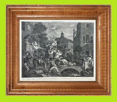 "WILLIAM HOGARTH  ""The Election"" Series  - Plate No.4 Vintage Print  - 24"" x 18"""