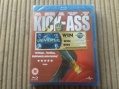 New & Sealed Kick-Ass Bluray Aaron Johnson Nicolas Cage Chloe Grace Moretz