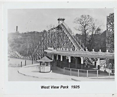 WEST VIEW PARK 1920/'s FRAMED B/&W 8x10 PITTSBURGH