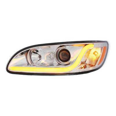 Chrome Projection Headlight Assembly Fits Peterbilt 384, 386 & 387 - Driver Side