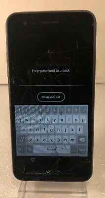 LG REBEL - L44VL - 8GB - Black - (Tracfone) Cracked - Parts or