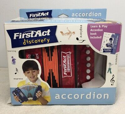 DISCOVERY TOY FIRST Act Accordion Blue Children Youth Junior