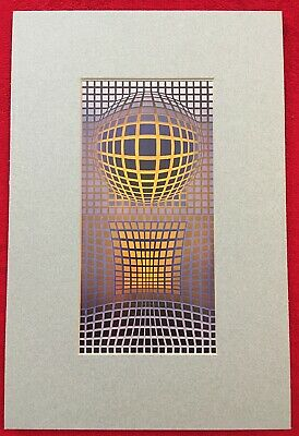 Victor Vasarely, Vintage Offset  Lithograph 1970, Matted, VP 102