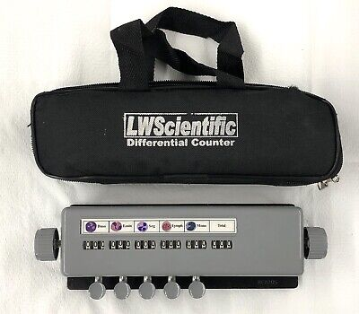 Differential Counter 5 Keys,Manual LW SCIENTIFIC With Case
