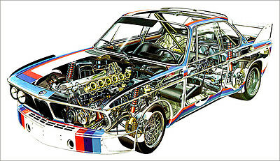 BMW M3 Rally Cutout Over 1 Meter Wide 1 Piece XXL Poster Art Print!