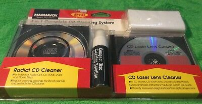 Magnavox 4 in 1 Complete CD Cleaning System Model M62030 Brand New Free Shipping
