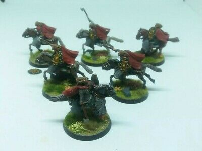 games workshop Lord of the rings 6 metal mounted sons of eorl