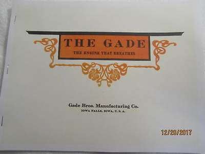 1910 Gade Brothers Gas Engine Catalog All sizes, hit miss, grinders, pumps