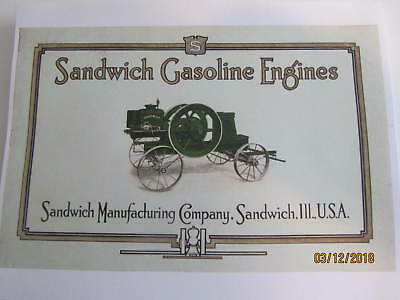 1924 Sandwich Manufacturing Co Sandwich Gas Engine  Catalog All sizes