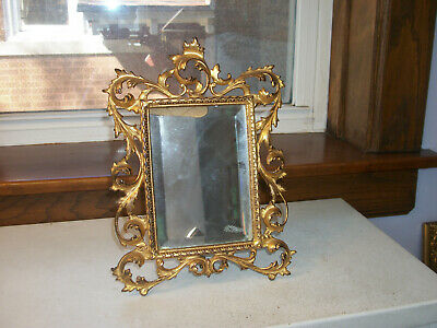 Victorian Cast Iron Easel Beveled Mirror Circa 188s - 1890s  All Original  As Is