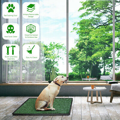 20X25in Puppy Pet Potty Training Pee Indoor Toilet Dog Tray Grass Pad Mat Turf