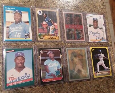 8 Bo Jackson Rookie Card Lot 1986 1987 Fleer Donruss