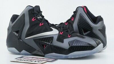 outlet store sale a6489 5acb1 Nike Lebron Xi 11 Used Size 10 Miami Nights Black Pink Grey Silver 616175  003