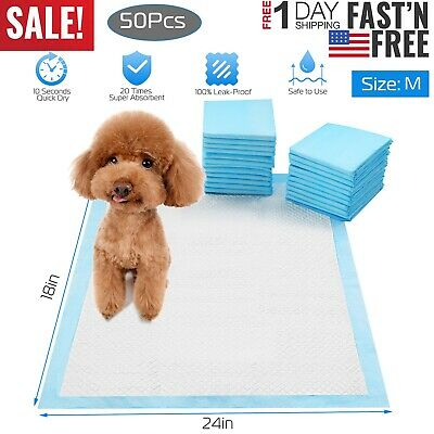 24x18 inch Dog Pet Training Pads Puppy Pee Diaper Pad Cat Wee Mats Potty 50pcs