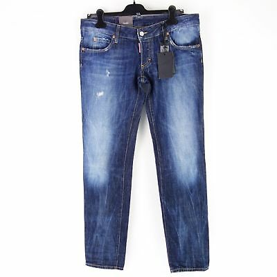 1c5f1a2638a532 Dsquared2 Dsquared Women's Jeans Trousers S75la0438 Size 46 Blue Skinny Np  390