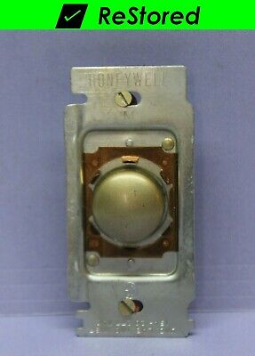 Vintage Honeywell Tap-Lite Taplite Wall Light Switch - Push Button, Single-Pole