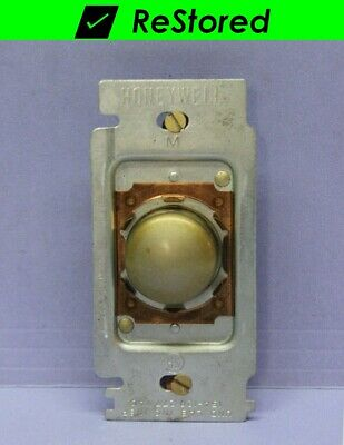 Vintage Honeywell Tap-Lite Taplite Wall Light Switch - Push Button, 3-Way - Gold
