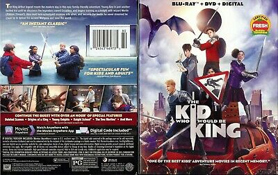 !@#$ The Kid Who Would Be King (Blu-Ray/DVD, 2019) Patrick Stewart !@#$