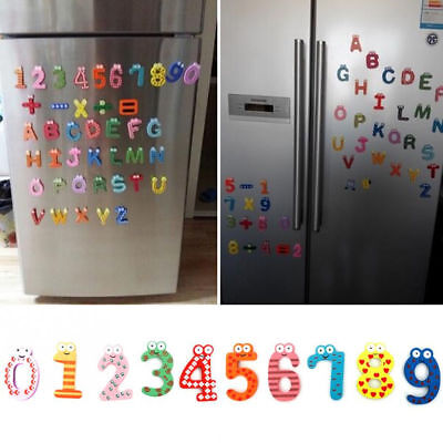 Wood Fridge Magnet Alphabet Animal Number Early Educational for Kids Baby
