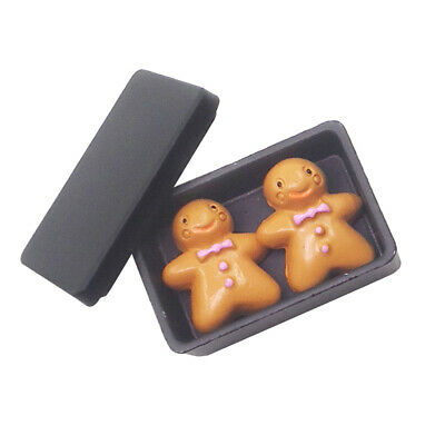 Lovely 1:12 Dollhouse Miniatures Accessories Black Biscuit Box and Cookies