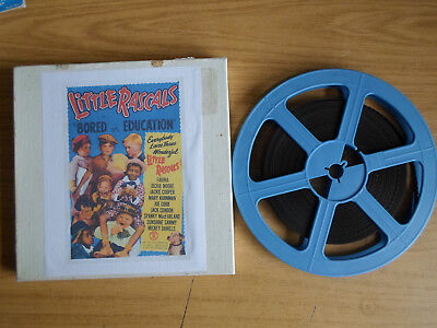 Super 8mm sound 1x250 BORED OF EDUCATION. Little Rascals classic comedy.