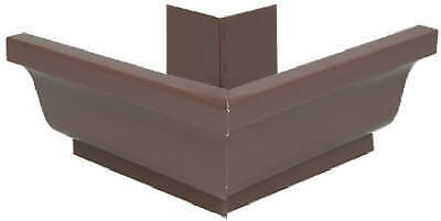 AMERIMAX HOME PRODUCTS Gutter Outside Mitre, Brown Galvanized Steel, 4-In.