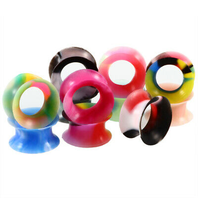 22PCS Silicone Ear Tunnels Double Flared Ear Expander Plugs Gauges Mixed Color