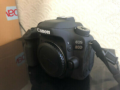 CANON EOS 80D 24MP DIGITAL SLR CAMERA & REMOTES - Very Low Usage - EOS80D