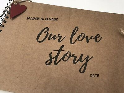 Personalised Our Love Story Scrapbook Album One Year 1st First Anniversary Gift