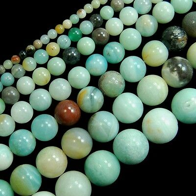 Natural Mixed-color Amazonite Gemstone Round Beads 15'' 4mm 6mm 8mm 10mm 12mm