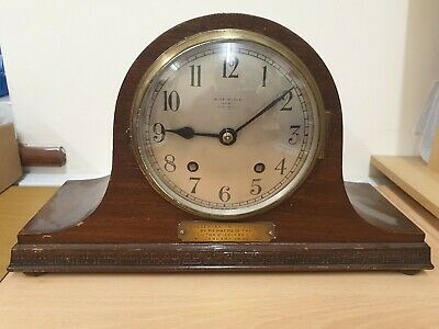 Napoleon Hat  Day Striking Mantel Clock In Working Order Mahogany Case C1932