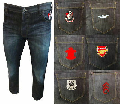 Jean Team Football Club Jeans Various teams Adults & Childrens sizes BRAND NEW