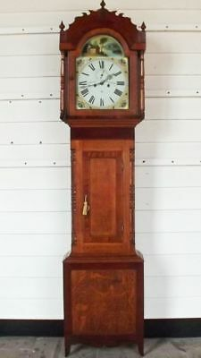 8 Day Oak Cased Longcase Clock  By Russell Marshall - Serviced