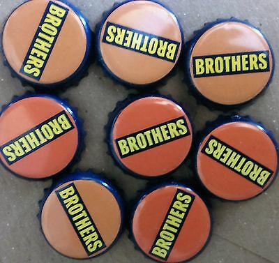 100 Brothers Cider Bottle Tops Caps Craft projects Orange Beer Art Man Cave Bar