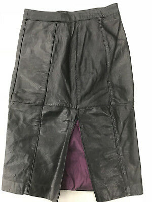 Sexy Jupe cuir Noir Schwarz Black lederrock leather skirt XL highwaist