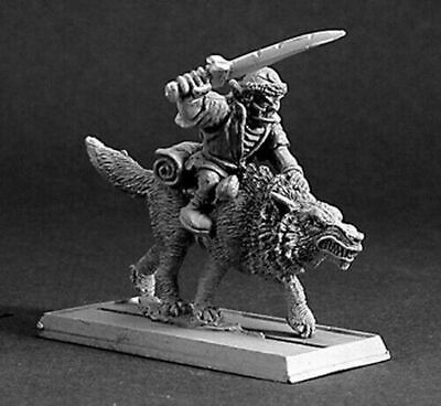 1 x GOBLIN BEASTRIDER - WARLORD REAPER miniature figurine rpg loup wolf 14189