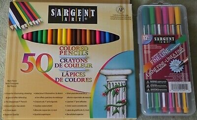 """BRAND NEW ~ SARGENT ART   """" COLORED PENCILS or SUPER FINE LINE MARKERS """""""
