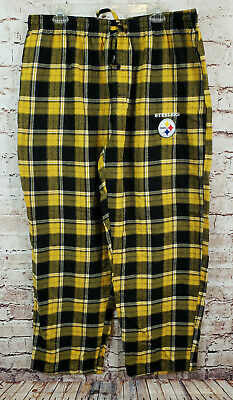 1908a29df Pittsburgh Steelers Sleep Lounge Pajama Pants Mens Size XL Yellow Plaid  Flannel