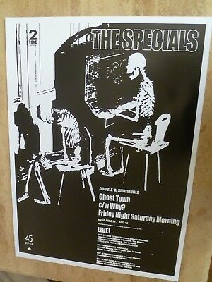 The Specials  'Ghost Town' Reproduction Poster 70 Cm X 50 Cm