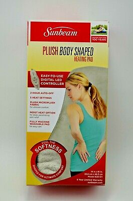 """Sunbeam Plush Body Shaped Heating Pad 14"""" x 19""""  Excellent Condition"""