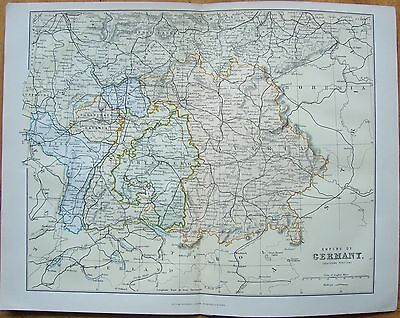 "c1880 Map of the ""Empire of Germany-southern portion"" by William McKenzie"
