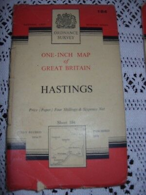 1959 Ordnance Survey Seventh Series One Inch Map 184 Hastings